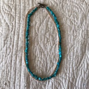 Jewelry - Turquoise and Freshwater Pearl Layered Necklace